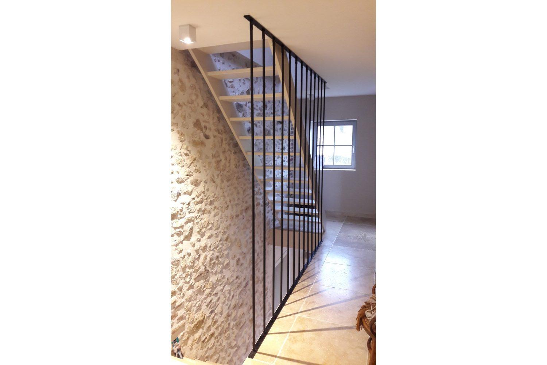 garde-corps escalier en fer moderne
