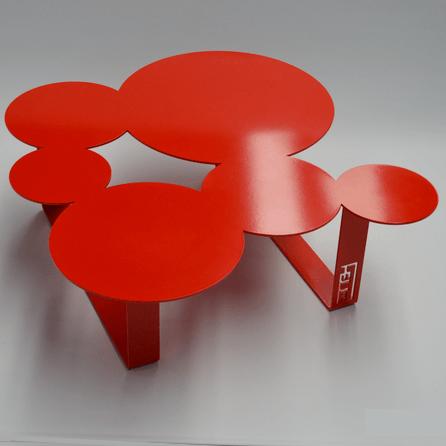 table fell itc design. Table en fer.
