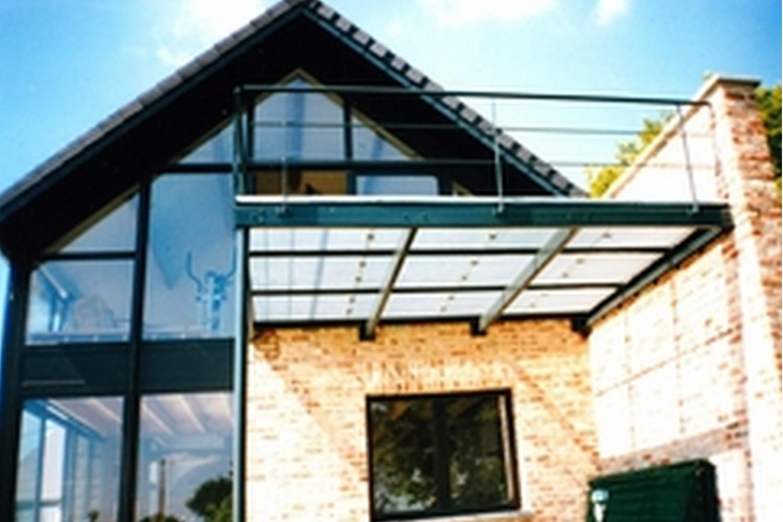 structure métallique, terrasse extérieure